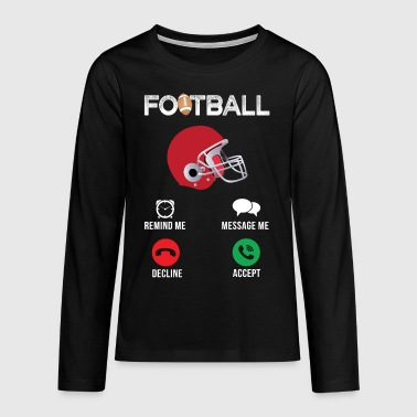 american football - Teenager Premium shirt met lange mouwen