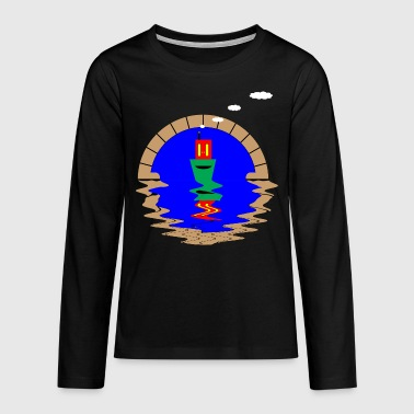 Tunnel narrowboat and tunnel - Teenagers' Premium Longsleeve Shirt