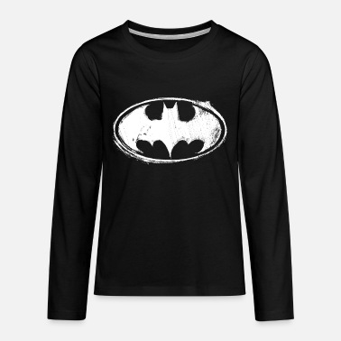 Batman Batman Logo Sketch - Premium langærmet T-shirt teenager