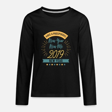 New Year New Me 2019 - Teenager premium T-shirt med lange ærmer