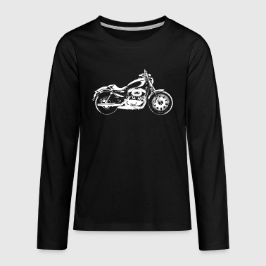 Biker motorbike Chopper Motorcycle Motorrad Bike Vehicle - T-shirt manches longues Premium Ado
