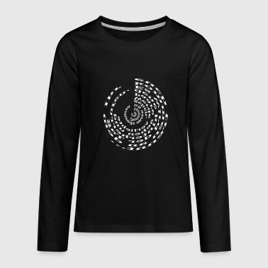 circle shape circular circular cool - Teenagers' Premium Longsleeve Shirt