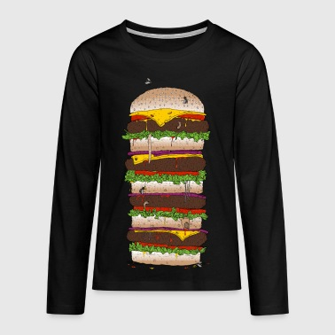 Giant Burger - Teenager Premium Langarmshirt