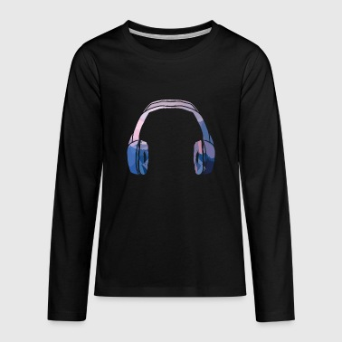 Headphone Headphones - Teenagers' Premium Longsleeve Shirt