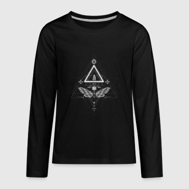 Moth in occult design - Teenagers' Premium Longsleeve Shirt