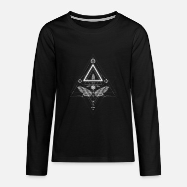 Occult Moth in occult design - Teenagers' Premium Longsleeve Shirt