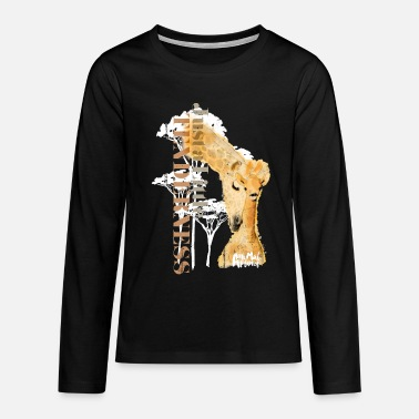 Animal Planet Animal Planet Giraffen - Teenager Premium Langarmshirt