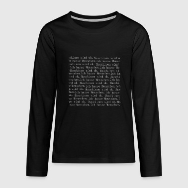 People - Teenagers' Premium Longsleeve Shirt