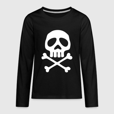 Pirate Skull and crossbones, pirate, anime, space captain - Teenagers' Premium Longsleeve Shirt