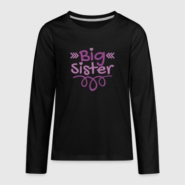 Big Brother Big Sister - Big Sister Heart - Teenagers' Premium Longsleeve Shirt
