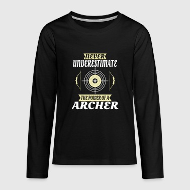 Longbow Archery Archer gift - Teenagers' Premium Longsleeve Shirt