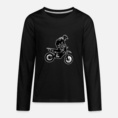 Bike enduro black - Teenagers' Premium Longsleeve Shirt