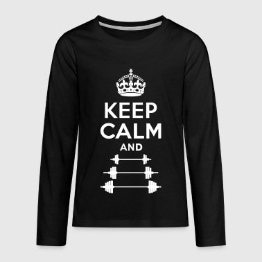 Keep Calm - Workout - Fitness - Gym - Maglietta Premium a manica lunga per teenager