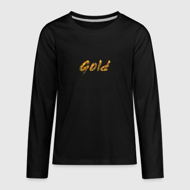 Gold - Teenager Premium Langarmshirt