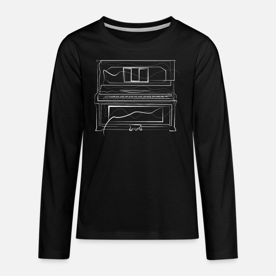 Gift Idea Long sleeve shirts - Piano Piano - Teenage Premium Longsleeve Shirt black