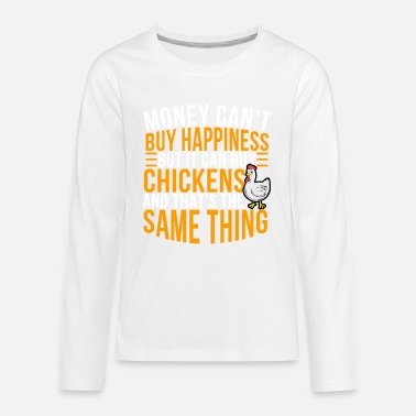 Crutches Chicken farmer hen house farmer poultry hen egg - Teenage Premium Longsleeve Shirt