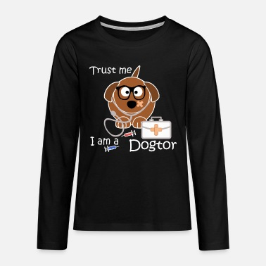 Dogtor birthday gift idea dog doctor medicine - Teenage Premium Longsleeve Shirt