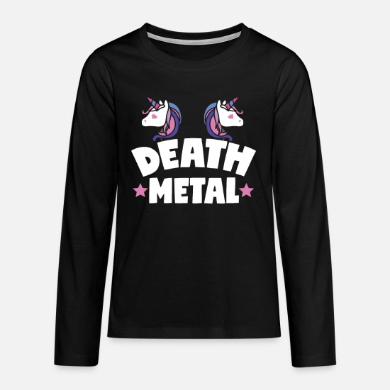 Death Metal Long sleeve shirts - Death Metal - Teenage Premium Longsleeve Shirt black