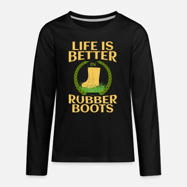 BAUER LANDWIRT BÄUERIN FARM RUBBER BOOT GIFT - Teenage Premium Longsleeve Shirt
