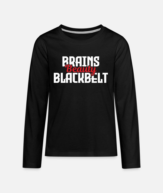 Martial Arts Long-Sleeved Shirts - Martial arts martial arts karate - Teenage Premium Longsleeve Shirt black