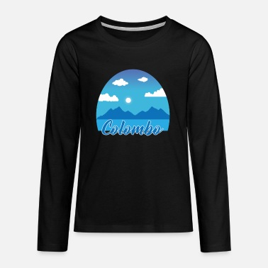 Colombo dream vacation in blue - Teenage Premium Longsleeve Shirt