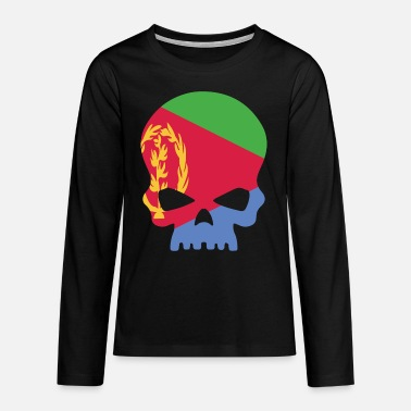 Music Sugar Skull Eritrea - Teenage Premium Longsleeve Shirt