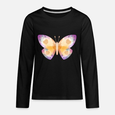 Butterfly insect butterfly wing watercolor colorful - Teenagers' Premium Longsleeve Shirt