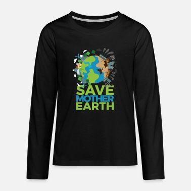 Fridays Earth Day - Teenager Premium Langarmshirt