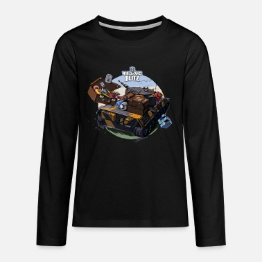 Randonnée de chars Blitz World Of Tanks - T-shirt manches longues premium Ado