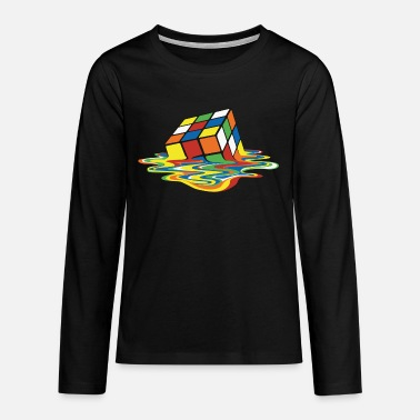 Cooper Rubik's Cube Melted Colourful Puddle - Teenager premium longsleeve