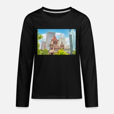 Trinitiy Church in the City of Boston Massachusett - Teenager Premium Langarmshirt