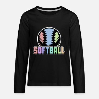 Softball Softball Softball Player Softball Team Ball - Teenage Premium Longsleeve Shirt