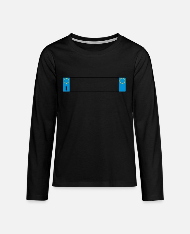 Recurrence Long-Sleeved Shirts - license plate Italy_g1 - Teenage Premium Longsleeve Shirt black