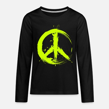 Symbool Hippy Peace Symbol Hippy Peace Freedom Love - Teenager premium longsleeve