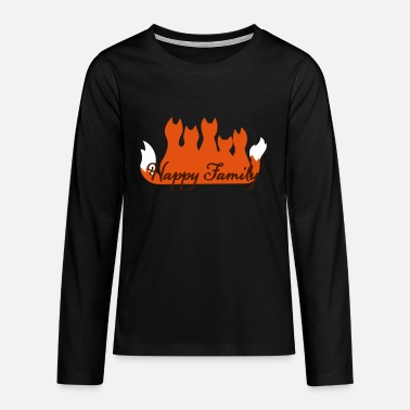 Famile Happy Family Fuchsfamilie fox family famille - Teenage Premium Longsleeve Shirt