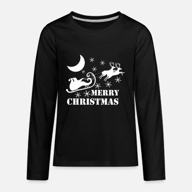 Merry Christmas - Teenage Premium Longsleeve Shirt