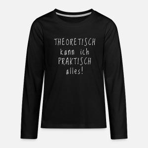 Lustige Spruche Geschenkidee Praktisch Thoeretisch Baby T Shirt