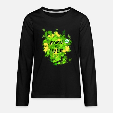 Camoflage St. Patricks Day Celebration Camoflage - Teenage Premium Longsleeve Shirt
