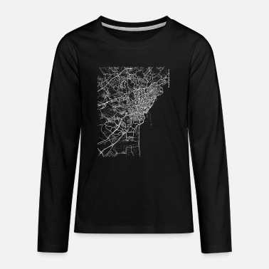 Catania City Minimal Catania city map and streets - Teenage Premium Longsleeve Shirt