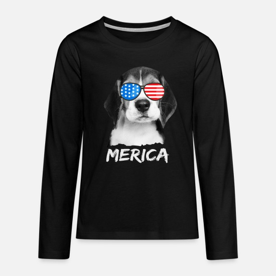 Usa Langærmede shirts - Beagle USA America Dog USA USA - Premium langærmet T-shirt teenager sort