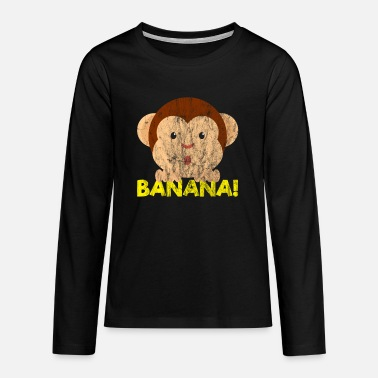 Tier Animals Banana - Teenager Premium Langarmshirt