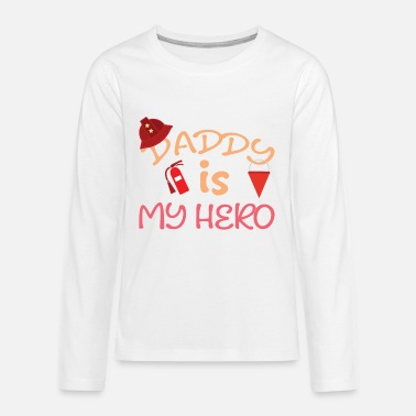 Papa is my hero - Teenage Premium Longsleeve Shirt