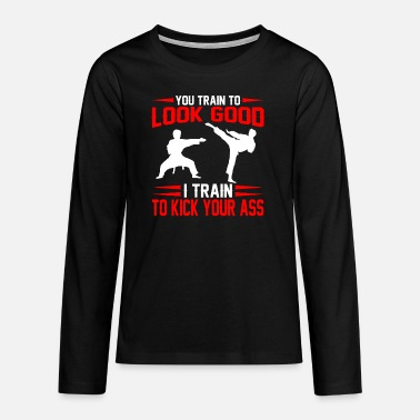 Training Kung Fu Karate Fighter Gift I Martial Arts - Teenager premium longsleeve