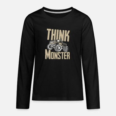 Motorsport Monster truck - Premium langærmet T-shirt teenager