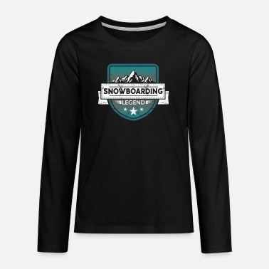 Sportlegende Snowboarden Snowboarden Sportlegende - Teenager Premium Langarmshirt