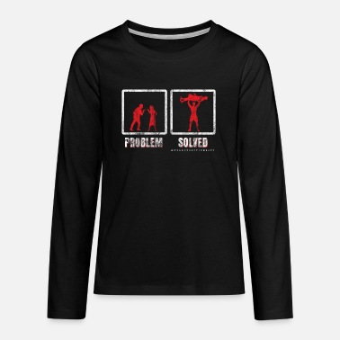 Problem Weightlifting problem solved - Teenage Premium Longsleeve Shirt