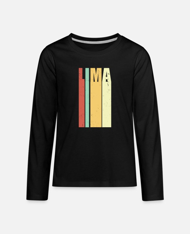 Metropolis Long-Sleeved Shirts - Lima Peru vintage - Teenage Premium Longsleeve Shirt black