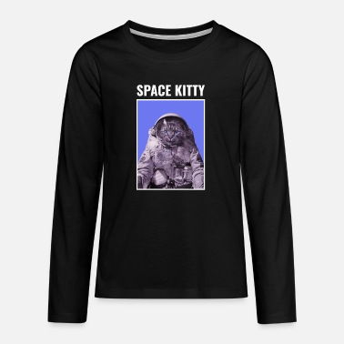 Space Kitty Astronaut Cat - Teenager premium longsleeve