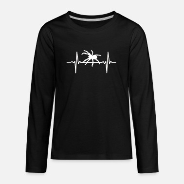 Web Bird Spider Heartbeat Tarantel ECG Spider Pulse - Teenage Premium Longsleeve Shirt