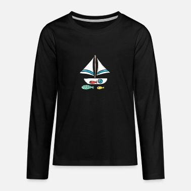 Sailboat sailboat - Teenage Premium Longsleeve Shirt
